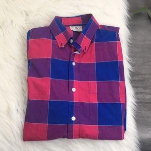 Men's Bonobos Pink & Purple Button Down Shirt